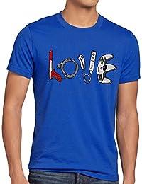 style3 LOVE Jeu T-Shirt Homme super console kart NES SNES zelda mario sonic wii