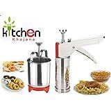 Kitchen Khajana™ Combo Of Stainless Steel Kitchen Press & Menduwada Maker