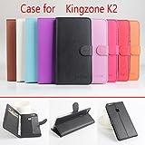 Proteja su teléfono, De cuero flip caso protector magnético para k2 kingzone (colores surtidos) ( Color : Rosa )