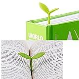 JUNGEN 6 X marque-page Creative peu signets vert Silicone des bourgeons mignonne petite herbe(couleur aleatoir)