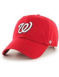 47 Brand MLB Washington Nationals Clean Up-Gorra de béisbol Unisex Adulto  ·   db25a5f12fb