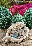 ABC Home Garden Deko ♡ ♡ Dekofigur niedliches Kätchen ♡ Gartenfigur ♡ Innen- & Außenbereich ♡ ♡, Mehrfarbig
