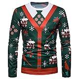 Unisex Weihnachtspullover Unisex Hip Hop Sweatshirts mit 3D Digital Print 3D Muster (Mehrfarbig,M)