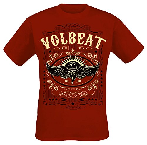 Volbeat Western Wings T-Shirt Rot Rot