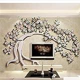 Lifme Nuovo Sfondo Personalizzato 3D In Ferro Battuto Albero Fiore Moderno E Minimalista 3D Soggiorno Tv Sfondo Muro Carte Decorazioni Per La Casa-250X175Cm