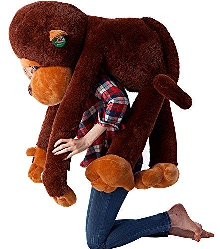 HAHA Peluche de felpa gigante perfecto para regalo de cumpleaños, diseño de mono