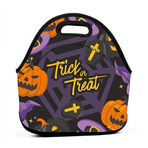 für Mädchen, Halloween-Tag, günstige Taschen für Frauen, 3D-Druck, Lunchbox, Lebensmittelbehälter, Picknick-Tasche, Handtasche ()