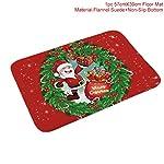 RXZHN Flannel Merry Christmas Tappetino Porta Tappeto Decorazione Natalizia per la casa Ornamenti Natalizi Festa di Natale Capodanno