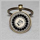 Om Symbol Schlüsselanhänger, Buddhismus, Zen, Meditation, Mandala Art Schlüsselbund  Everyday Geschenk Schlüsselanhänger Key kette
