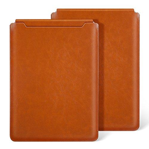 Ayotu MacBook Air 11 Zoll Laptop Hülle Wasserdicht Mikrofaser PU Leder für MacBook Air 11 Zoll (A1370/1465) Notebooktasche Schutzhülle Case Leather Sleeve Hülle,Braun
