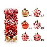 cvbfghgfjhfgjhf Weihnachtsballlichtball 6cm24 malte Ballpaket Weihnachtsbaumdekoration-Ballfaß