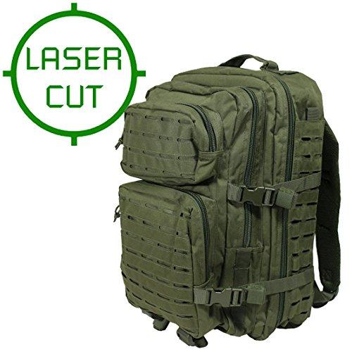Mil-tec zaino militare tattico laser cut molle us assault - large - colore verde