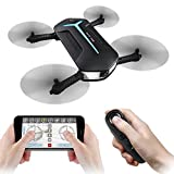 JJRC H37 Mini Baby Elfie WIFI FPV Drone with 720P Camera Real-Time Transmitter Gyro Controller Headless Mode RC Quadcopter RTF by JJRC