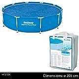 Bestway BW58241 10 feet Steel Pro Frame, Solar Swimming Pool Cover