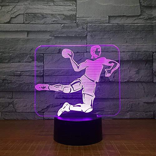 Handball 3D Led Lampe 7 Farbe Nachtlampen für Kinder Touch USB Tisch Lampara Lampe Baby Schlafen Nachtlicht Raum Lampe Drop Ship