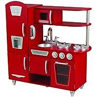 Kidkraft 53173 Cucina Giocattolo in Legno per Bambini Vintage con Telefonino Incluso - Rosso