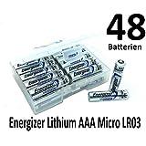 NEMT Flachbox mit 48x Energizer Lithium Mignon AAA Batterie LR03