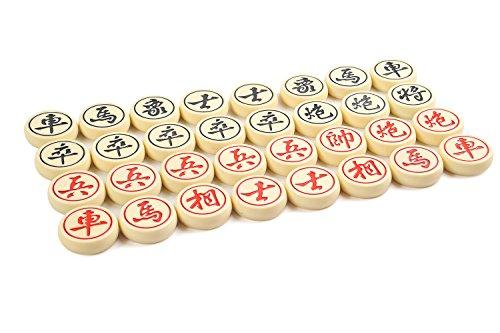 Quantum Abacus Premium Xiangqi: Professionelle, schwere Spielsteine für Chinesisches Schach / Xiangqi, aus hochwertigem Melaminharz, Größe XL: 5cm Durchmesser, 1,4 kg, Mod. CL-160