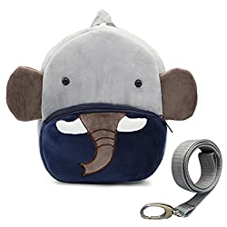 Dd Toddler Boys Girls Kids Children Backpack, Animal Cartoon Safety Anti-lost Strap Rucksack With Reins (Elephant)
