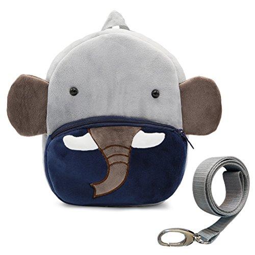 DD Kleinkind Jungen Mädchen Kinder Kinder Rucksack, Tier Cartoon Sicherheit Anti-verlorene Riemen Rucksack mit Zügel (Elefant)