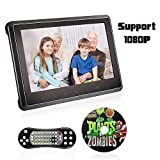 CATUO Auto DVD Player, Ultra-dünn 10.1 Zoll Videogerät für Kopfstützen/Auto Monitor/Multimedia Player, mit Spielfestplatte, für Mama Kinder, mit TFT LCD Bildschirm, 1080P USB/SD/HDMI/AV/FM