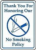 HALEY GAINES No Smoking Targa in Metallo Decorazione Parete Cartello Vintage Appendere Poster retrò Muro Placca per Bar Cucine Bagni Garage Hotel Giardino 20×30cm