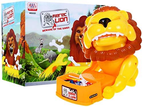 HUKITECH Wütender Löwe Spiel Geschicklichkeitsspiel Aktionsspiel Partyspiel Gesellschaftsspiel Dog Reflex Game - Familienspiel mit hohem Spaßfaktor -