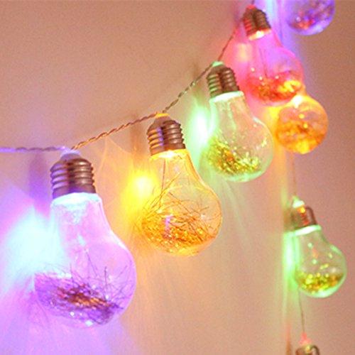Guirlande Lumineuse Extérieur,KINGCOO étanche 4M 20 LED Vintage Ampoule Ambiance Feux Lumières avec Batterie Opéré pour Jardin Terrasse Patio Xmas Party Mariage Décoration (Multicolore)