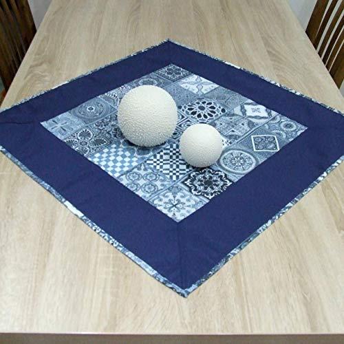 aunliche Kombinierte Quadratische Tischdecke, das Beste Geschenk für die schönste Küche von HomeAtelier, NAVY Blau, 64x64cm ()
