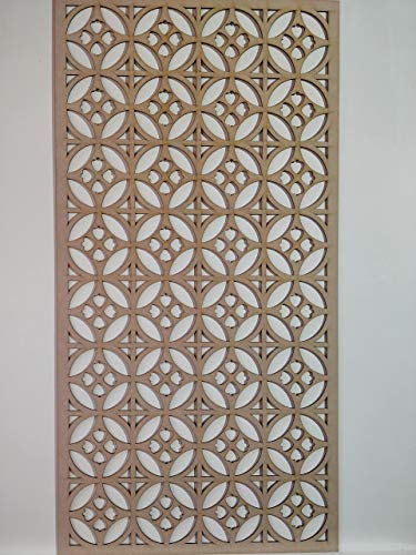 LaserKris K1 Heizkörperschrank, Wanddekoration, Lochung, MDF-Platte, 4 x 2 cm