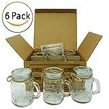 Smith's Mason Jars Schnapsgläser-Set mit 6Schnapsgläsern, je 120ml, ideal für die Aufbewahrung von Lebensmitteln, konservieren, mit tollem Geschenkanhänger für Geschenke und Hochzeitsgastgeschenke