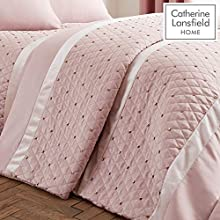 Catherine Lansfield Sequin Cluster Bedspread Blush 240x260cm