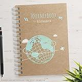 Reisetagebuch Weltweit DIN A5 - zum selberschreiben oder als Abschiedsgeschenk mit kleinen Aufgaben / Challenges und inspirierenden Reise-Zitaten - das ideale Logbuch für besondere Erinnerungen