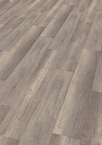 """wineo 300 Laminat mit Trittschalldämmung, \""""Welsh Dark Oak\"""", Klicksystem, 129 x 19,5 cm, 8 Paneele / 2,01 m², 7 mm stark, Fußbodenheizung geeignet, LA009C"""