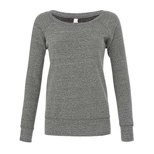 Bella - Mia Slouchy Wideneck Sweatshirt / Grey Heather, M M,Grey Heather