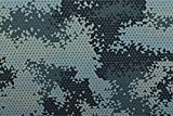 Qualitativ hochwertiger Jersey Stoff mit kleinen Dreiecken in Camouflage im Digitaldruck als Meterware zum Nähen von Baby, Kinder- und Damenkleidung, 50 cm
