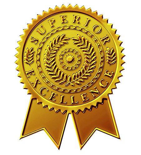Tolles Papier. Starburst Band geprägt und Gold Folie Zertifikat Dichtung, 4,4cm 48Count (903418) (Gold-folie-zertifikat Dichtungen)