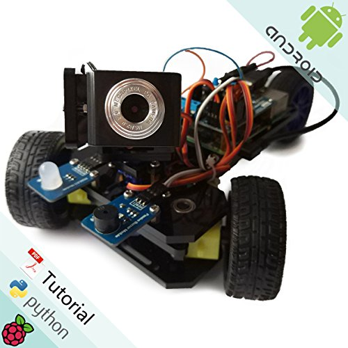 Freenove Three-Wheeled Smart Car Kit for Raspberry Pi | Model 3B+ 3B 2B 1B+ | Detailed Tutorial | Android APP | Robot Camera Video Wi-Fi Wireless Servo Ultrasonic (Pi Raspberry Cam Pi)
