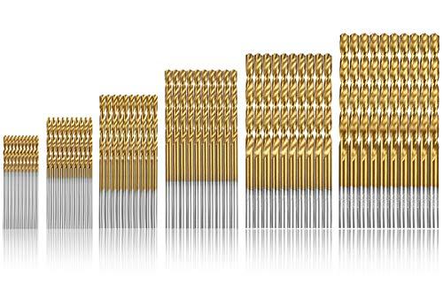 Qibaok punte per trapano 60 Pezzi Micro Punte Metrico HSS ad alta velocit in acciaio Punte 1/1.5/2/2,5/3/3,5 mm Drill Set Strumenti