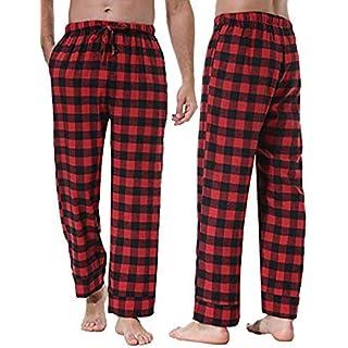 Herren Pyjamahose Baumwolle Schlafanzug Karierte Hose Nachtwäsche Sleep Hose Pants Tarnfarbe im Lässigen Stil Hose Lang Baumwoll-Gummiband