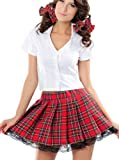 R-Dessous Schulmädchen Kostüm School Girl Schul Uniform Abbi Party Karneval Groesse: S/M