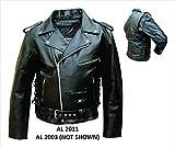 Men's AL2011 Basic Motorcycle Jacket 56 Black by Allstate Leather