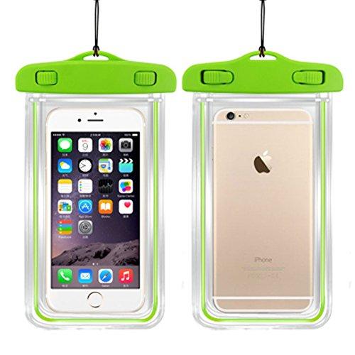 OSHIDE® Outdoor Handy Wasserfeste Tasche Schutzhülle Case Cover wasserdicht Unterwasser Smartphoneschutz für Samsung/iPhone/ 6 plus/ 5S /5C/ 5/ 4S/ 4 Farbwahl Glühen im dunklen