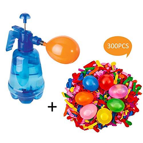 PER 300 Stück Wasserballons und Pumpen Set, Kinder Luft Wasserbombe Ballon Spielzeug Set Outdoor Party Garten Fun Games Wasserballons Set
