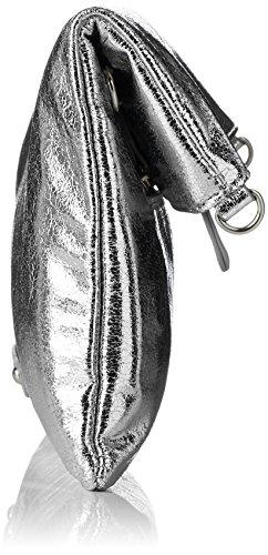 Boscha - Bo-1048-bt, Sacchetto Donna Argento (Silver)