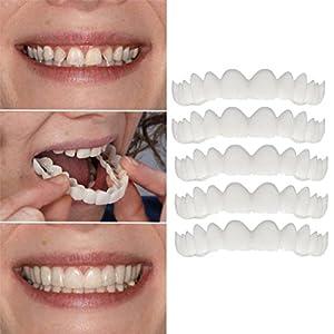 EARS 5 STÜCK Temporäre Lächeln Comfort Fit Kosmetische Zähne Prothese Zähne Top Cosmetic Veneer Temporary Smile Comfort Fit Cosmetic Teeth Denture Teeth Top Cosmetic Veneer
