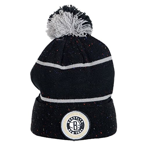 Mitchell And Ness - Bonnet Homme Brooklyn Nets Speckled Cuff Knit - Black