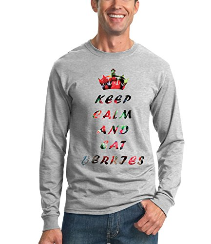 keep-calm-and-dont-be-hungry-words-collection-mens-unisex-sweatshirt-gris-large