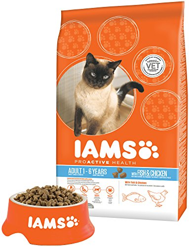 Iams for Vitality Cat Food with Ocean Fish for Adult Cats, 3 kg 6