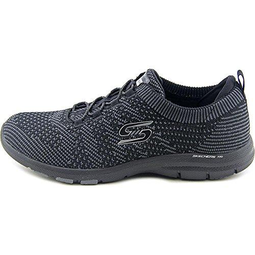 Skechers Galaxies Femmes Synthétique Chaussure de Marche Black-Charcoal